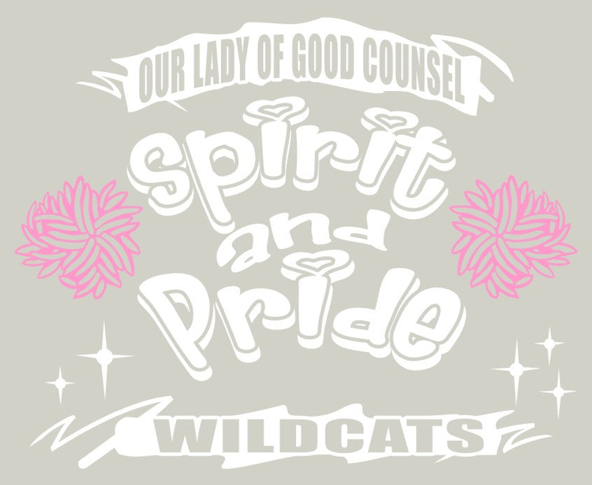 Short Sleeve Heather Grey OLGC Custom Pink Spirit & Pride Designed Cotton Shirt