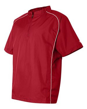 VLL Majors Twins - ADULT Rawlings Short Sleeve Poly Dobby Quarter-Zip Pullover - Red