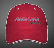 Americana Grocery Custom Structured Sandwich Visor - Red