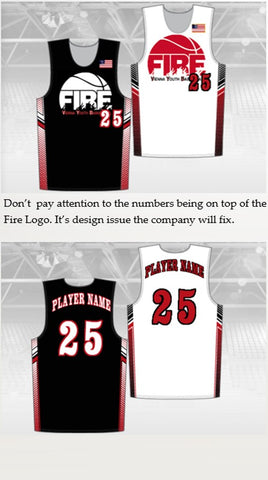 VIENNA FIRE REQUIRED Youth Chromagear Single Ply Reversible Basketball Jersey