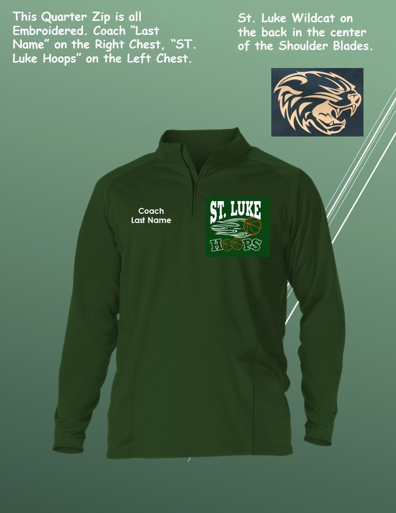 St. Luke Custom Adult Game Day Quarter Zip Long Sleeve