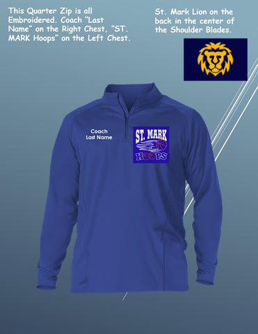 St. Mark Custom Adult / Coaches Game Day Quarter Zip Long Sleeve