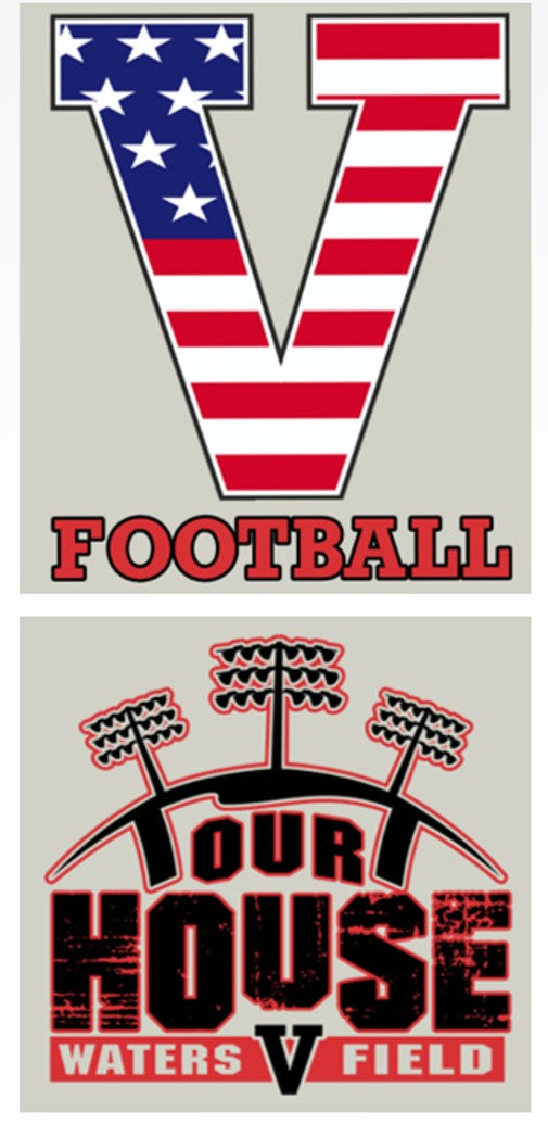 "2017 STARS & STRIPES ""V FOOTBALL"",""OUR HOUSE""  Athletic Heather Grey T-Shirt"