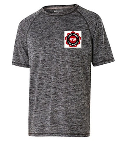 Adult Black S/S T-Shirt with VW Logo on Left Chest