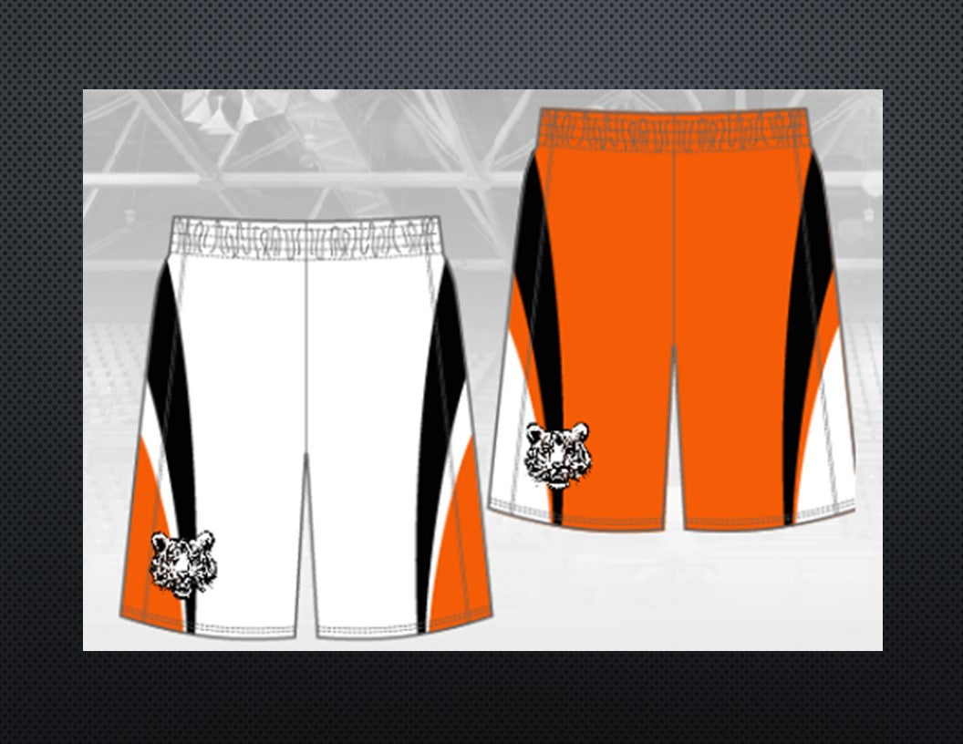 "TIGERS REQUIRED Mens Chromagear Single Ply Reversible 9"" Inseam Basketball Shorts"