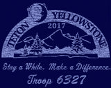 Troop 6327 - TETON YELLOWSTONE Ultra Light T-Shirt - Navy
