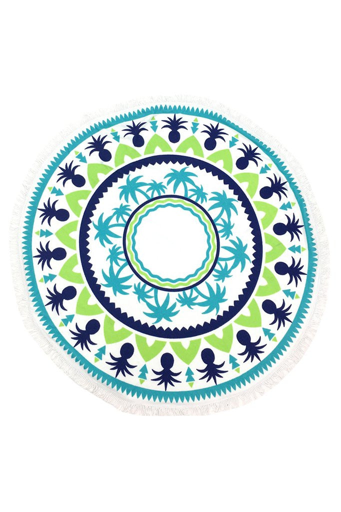 LW Tropical Breeze Terry Cloth Round Beach Towel