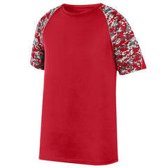 VLL Majors TWINS Digi Camo Wicking T-Shirt - All Sizes Red/Silver