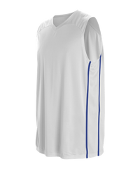 REQUIRED Option 1 - 67ers BASKETBALL JERSEY - White/Royal