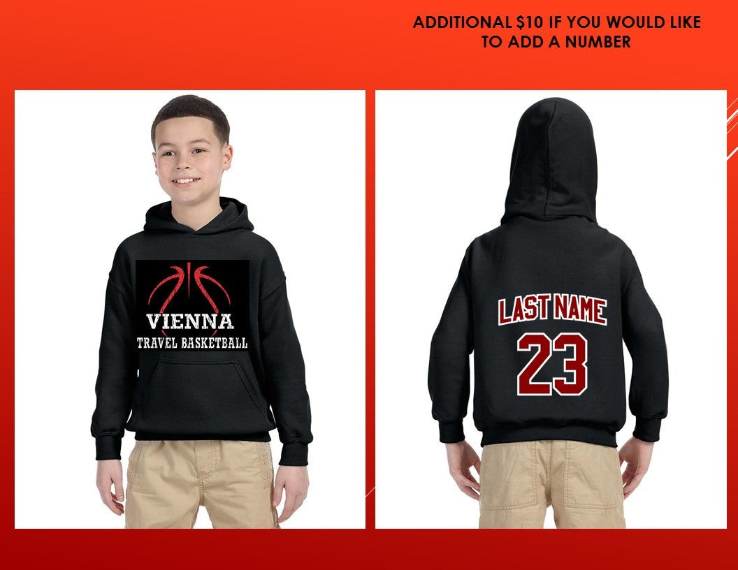 Vienna Travel Basketball Custom Youth Gildan Heavy Blend 8.0 Ounce Hooded Sweatshirt