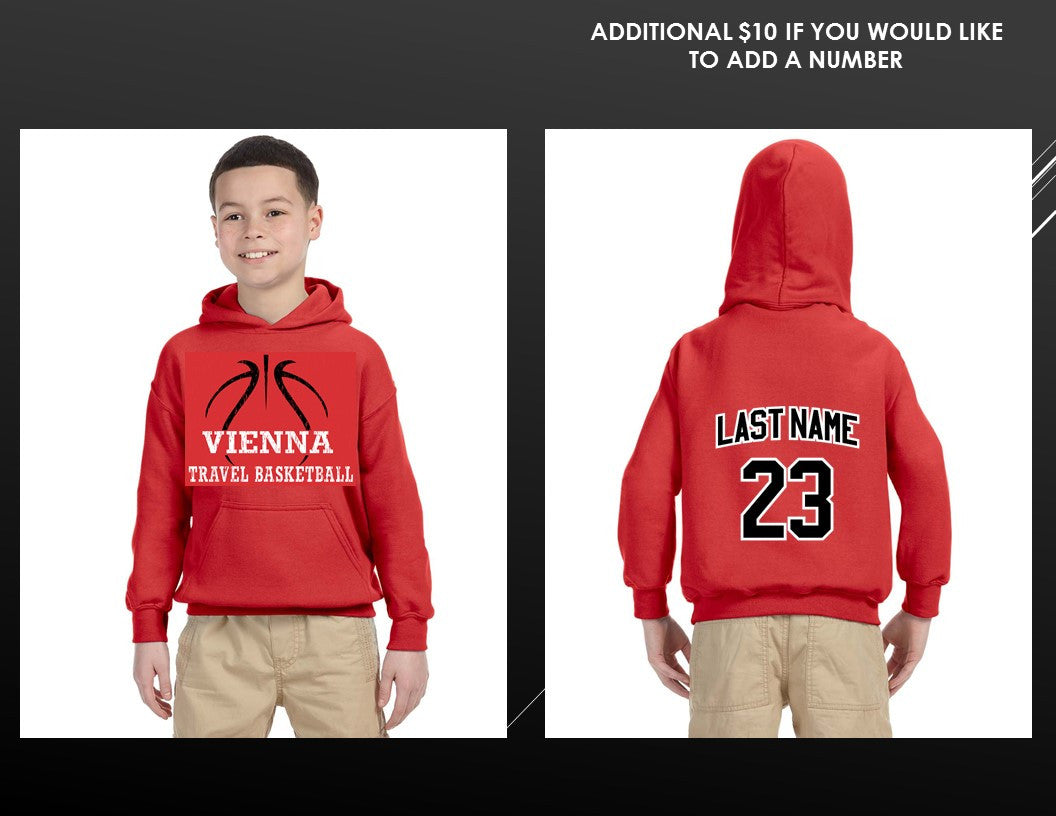 c4afc9051ce Vienna Travel Basketball Custom Youth Sweatshirt