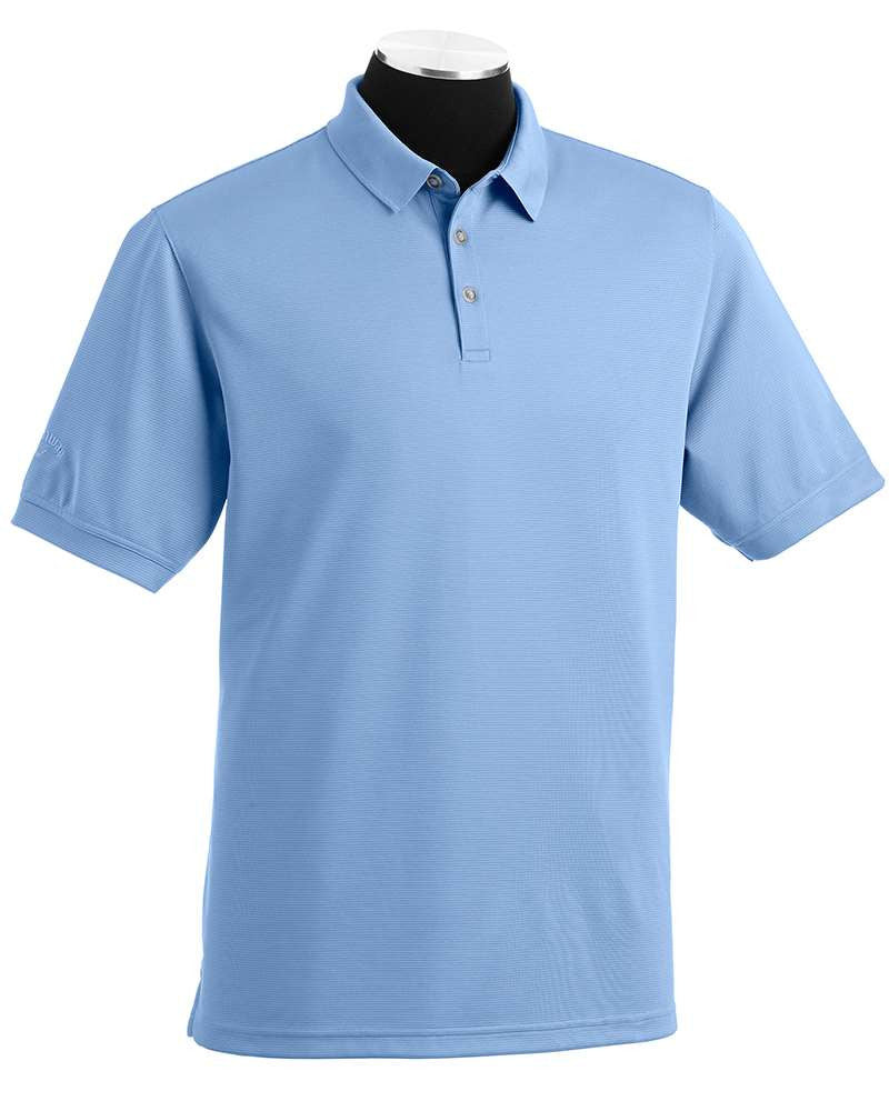 CMP Men's Custom Embroidered Callaway Solid Ottoman Texture Polo - Lt. Blue