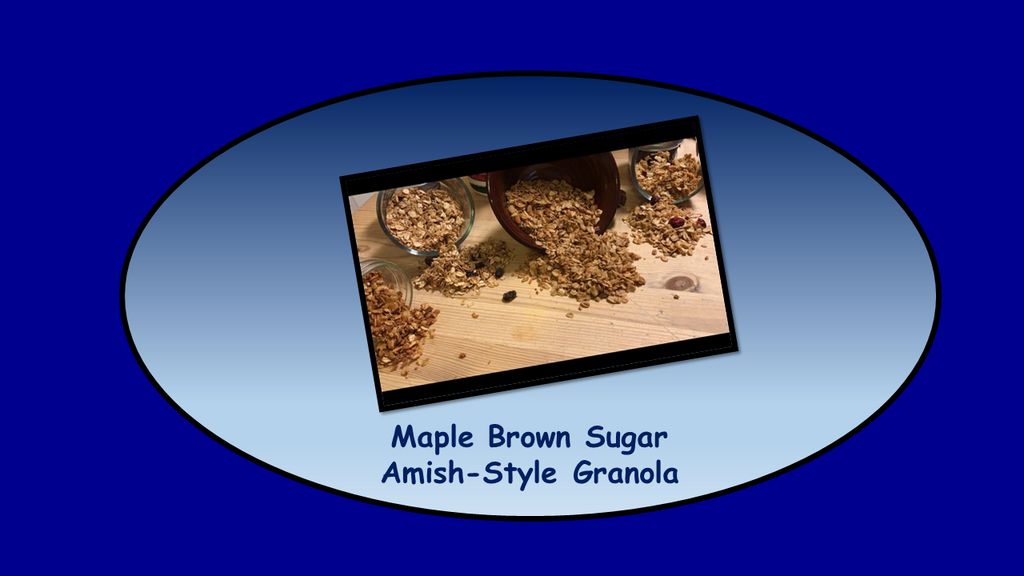 BFCM SPECIAL!!!  Maple Brown Sugar Amish-Style Granola 1-Pound
