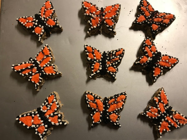 Half-Dozen Peach Monarch Butterflies