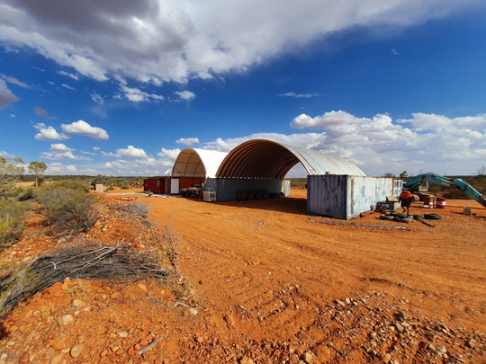 The new Russell's opal mining camp