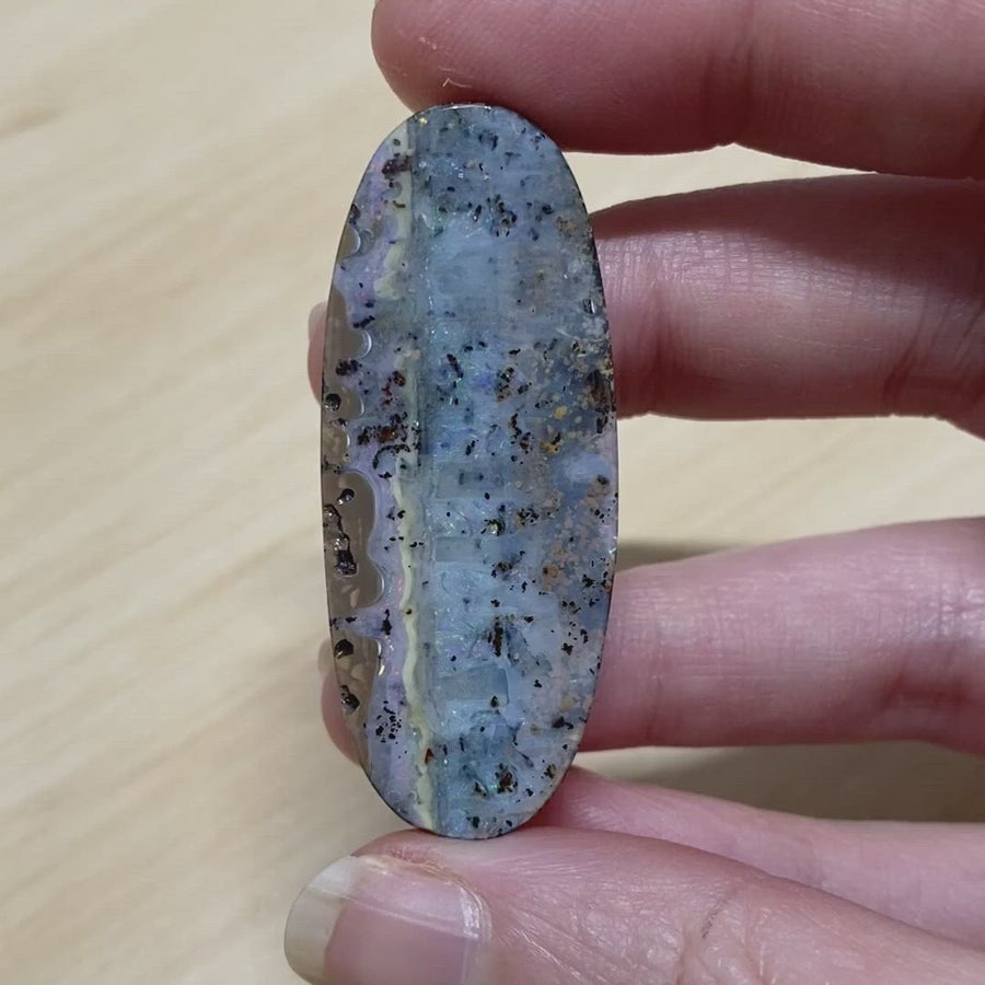 48.35 Ct beautiful pastel patterned boulder opal