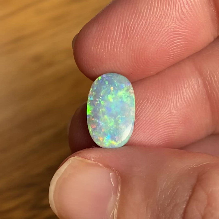 2.86 Ct small oval boulder opal