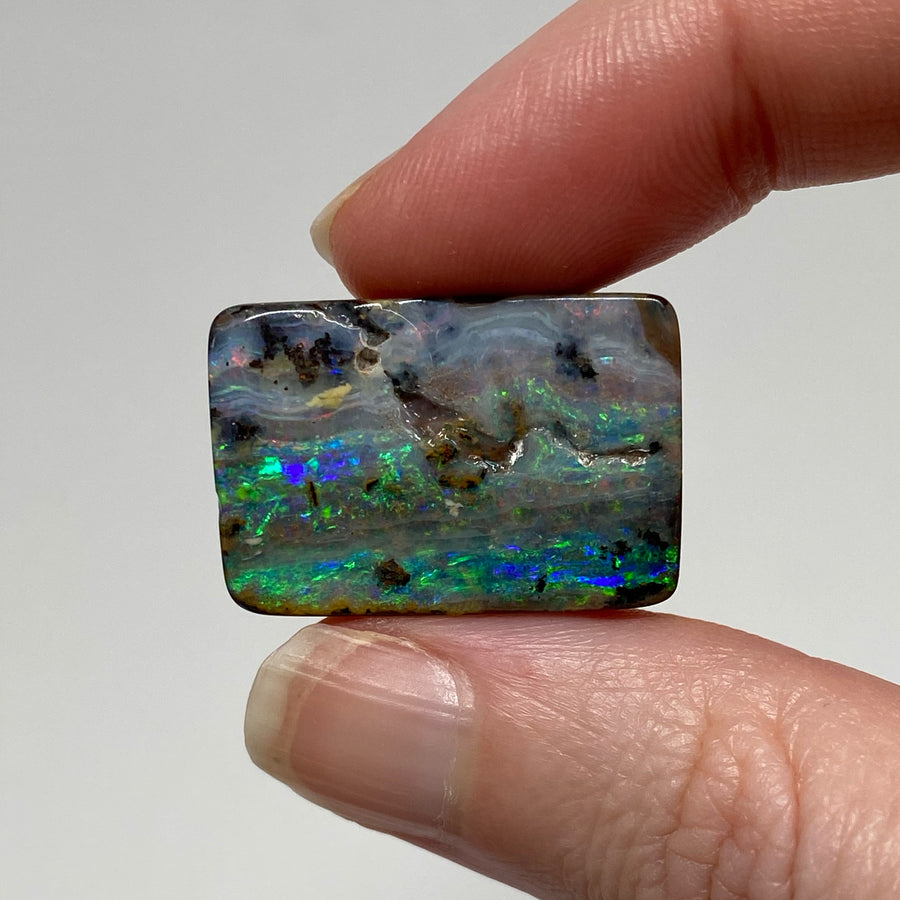 45.74 Ct rectangle boulder opal pair