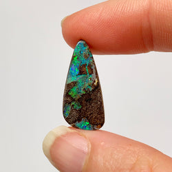 8.40 Ct free-form green and ironstone boulder opal