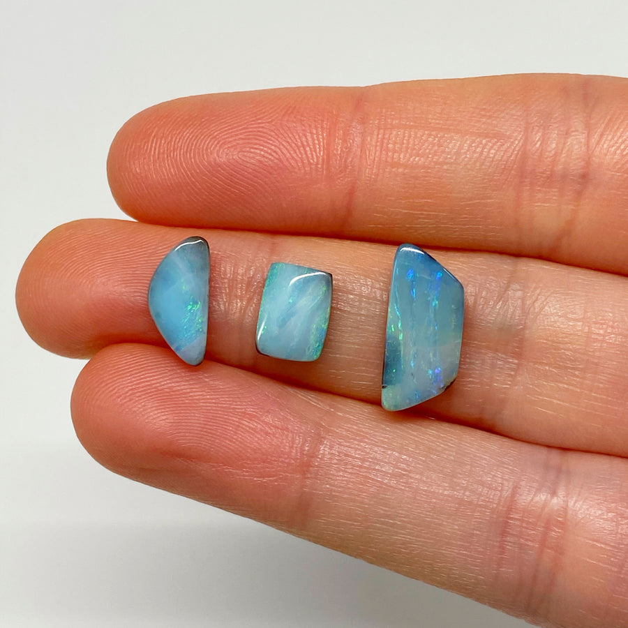 5.61 Ct set of three boulder opals