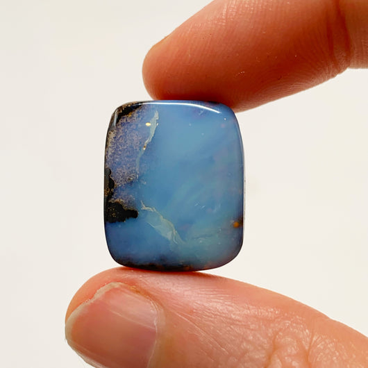 Australian Boulder Opal - 17.40 Ct light blue boulder opal - Broken River Mining