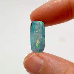5.47 Ct pink and light blue boulder opal