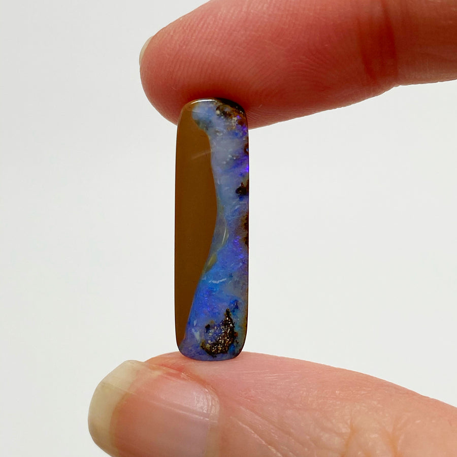4.95 Ct rectangle boulder opal