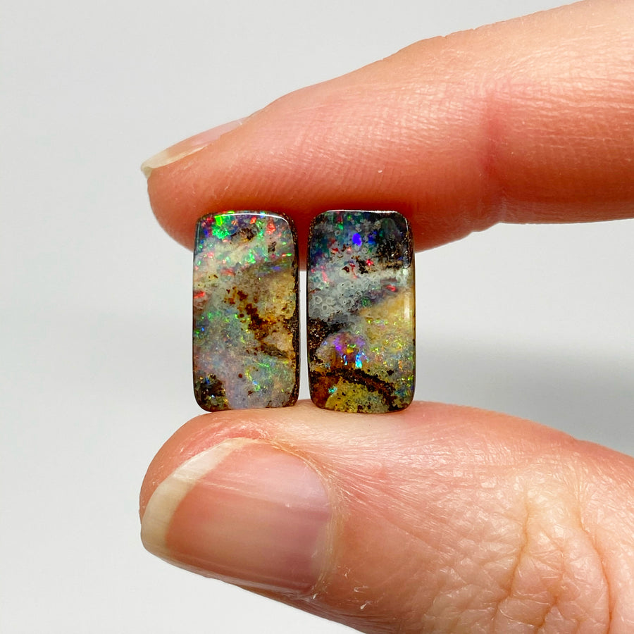 5.36 Ct small boulder opal pair