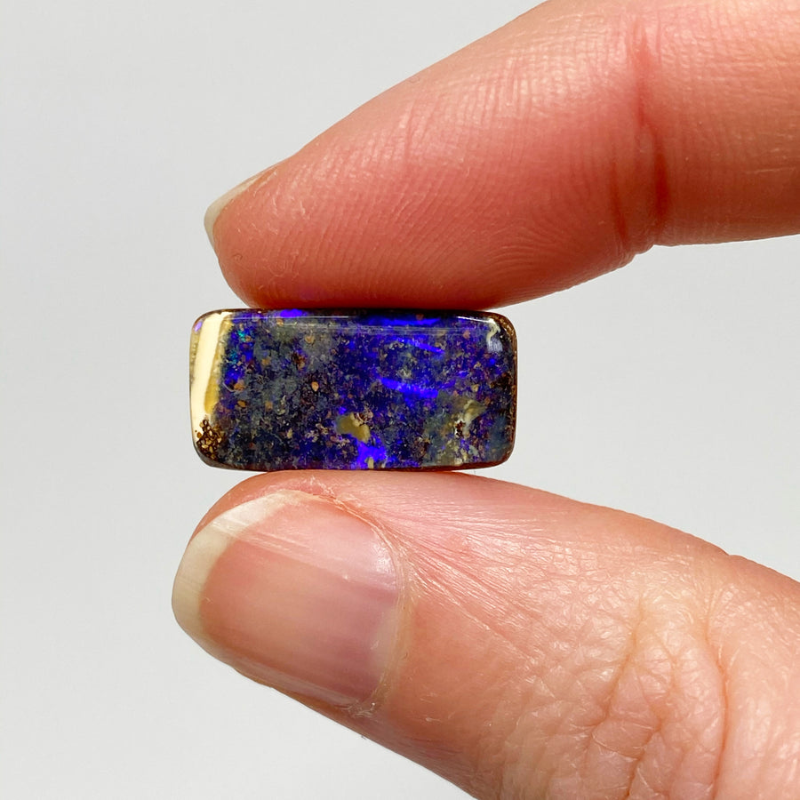 9.93 Ct purple boulder opal pair