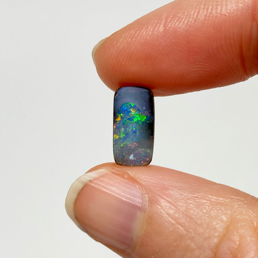 4.20 Ct rectangle boulder opal pair