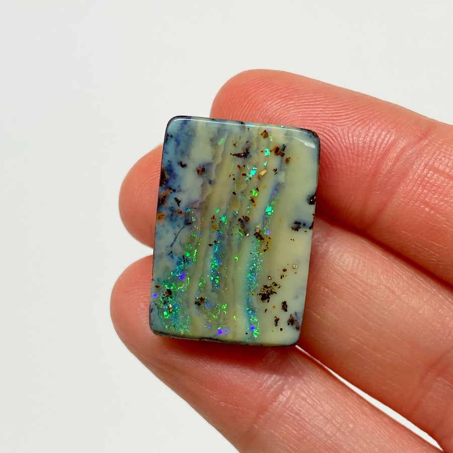23.90 Ct large rectange boulder opal