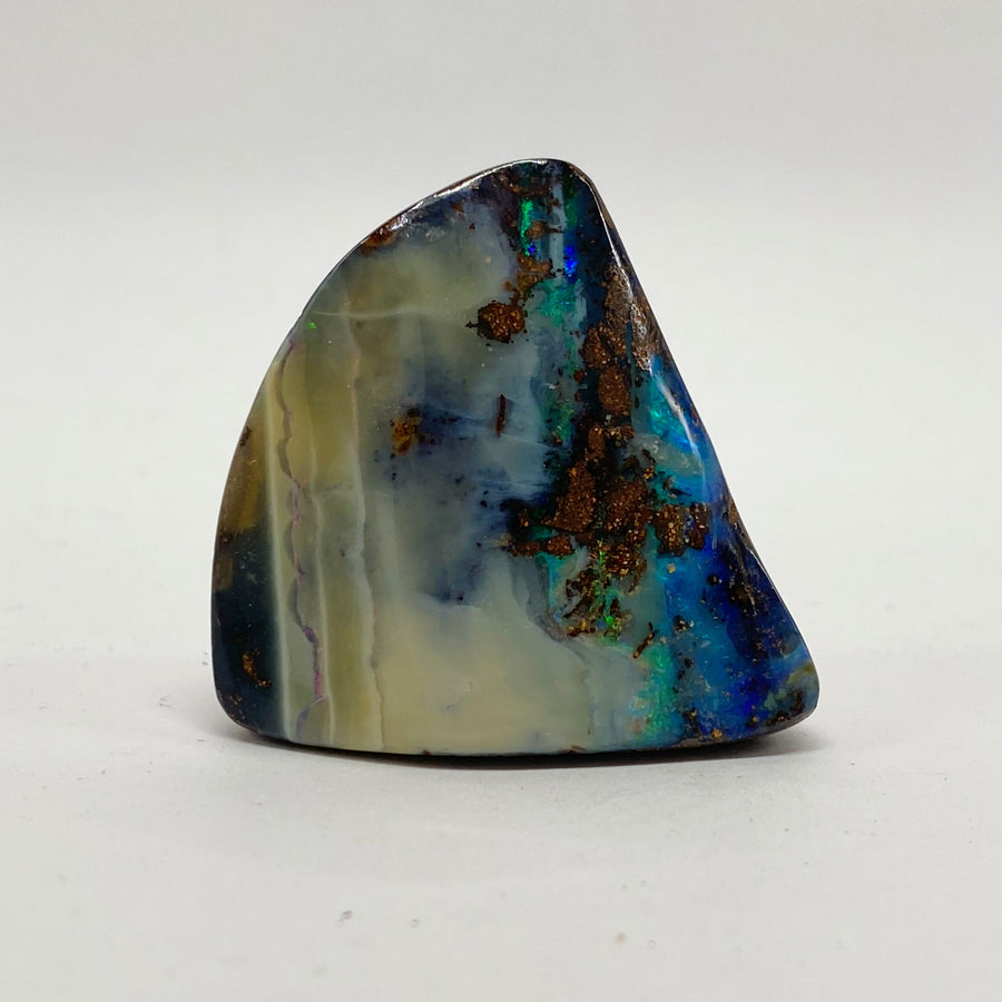 105 Ct green-blue boulder opal specimen