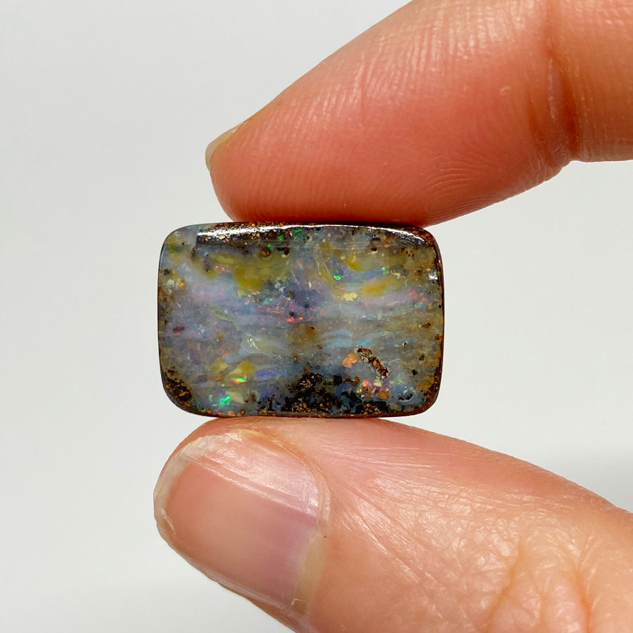 10.56 Ct rectangle boulder opal