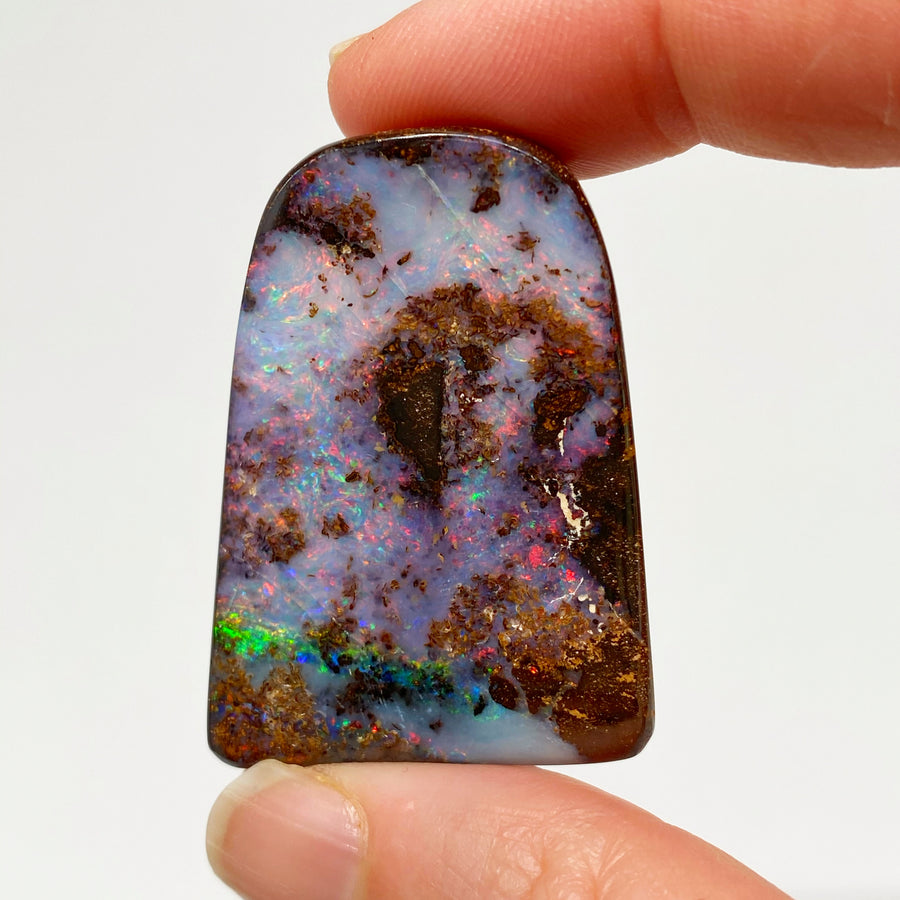 Australian Boulder Opal - 130 Ct small pink and green boulder opal specimen - Broken River Mining