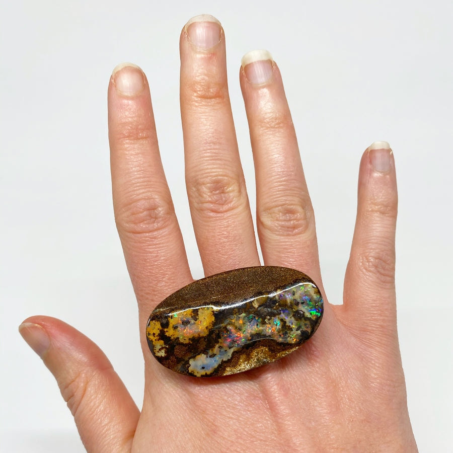 81.13 Ct extra large oval boulder opal