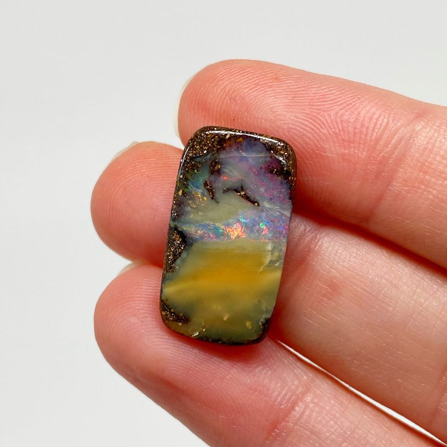 10.70 Ct rectangle boulder opal