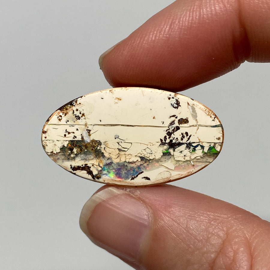 37.71 Ct large oval boulder opal pair