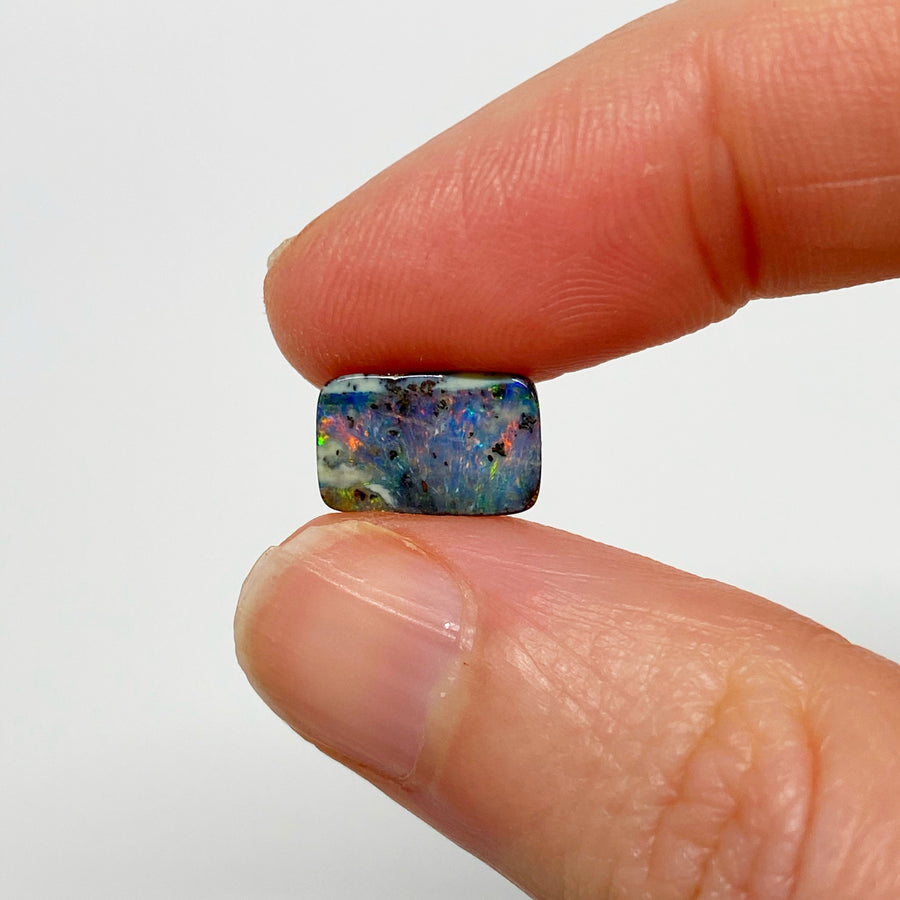 3.88 Ct small colourful boulder opal pair