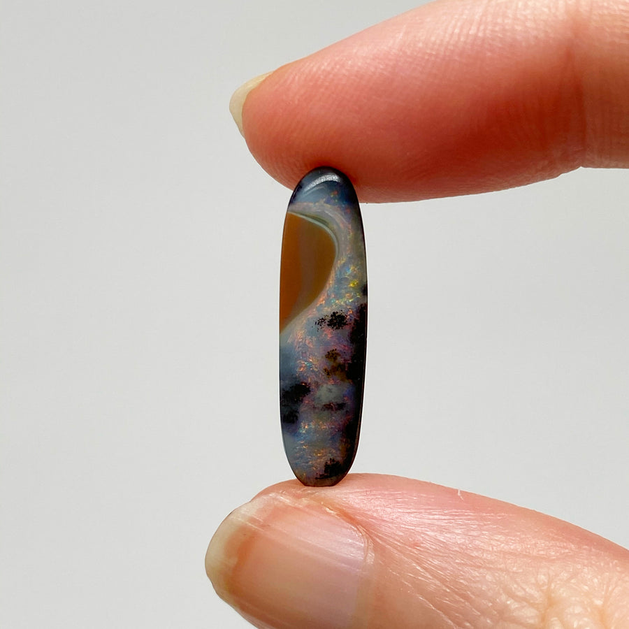 3.96 Ct small oval boulder opal