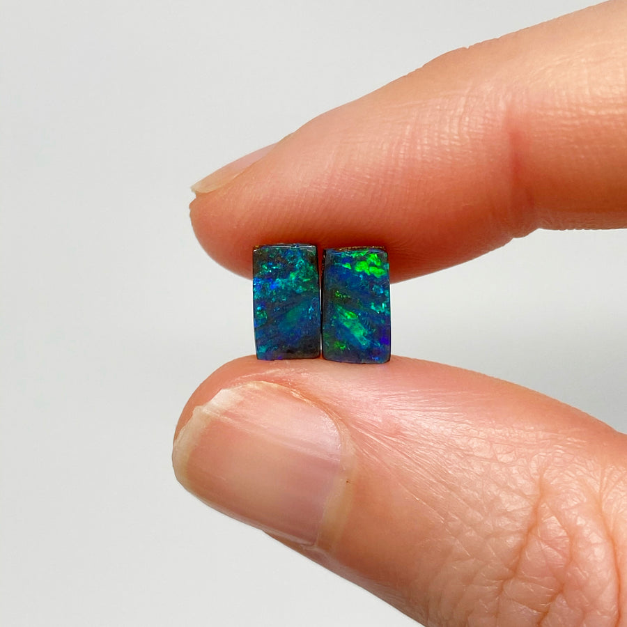 2.39 Ct extra small boulder opal pair