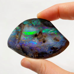 Australian Boulder Opal - 490 Ct green and purple boulder opal specimen - Broken River Mining