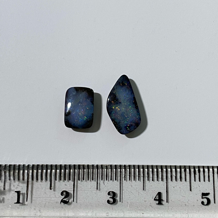 4.18 Ct set of 2 boulder opals