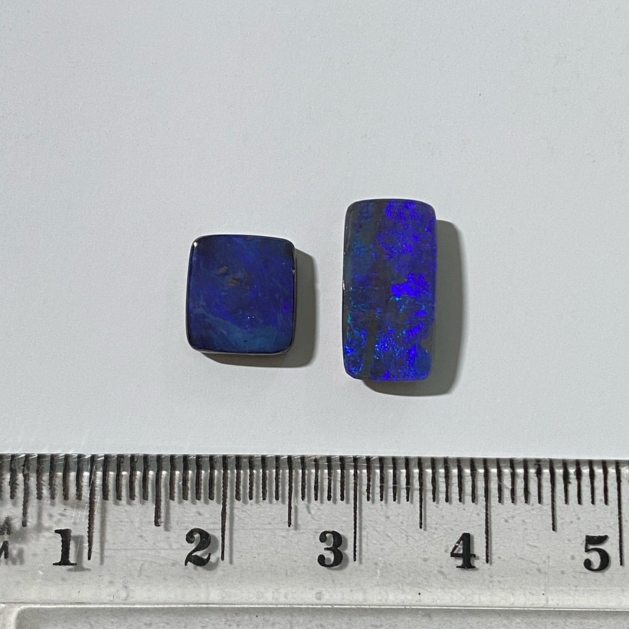 6.24 Ct set of 2 boulder opals