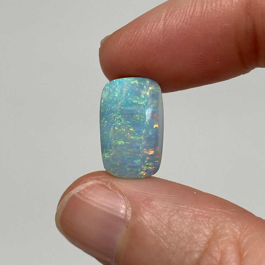 6.84 Ct rectangle boulder opal