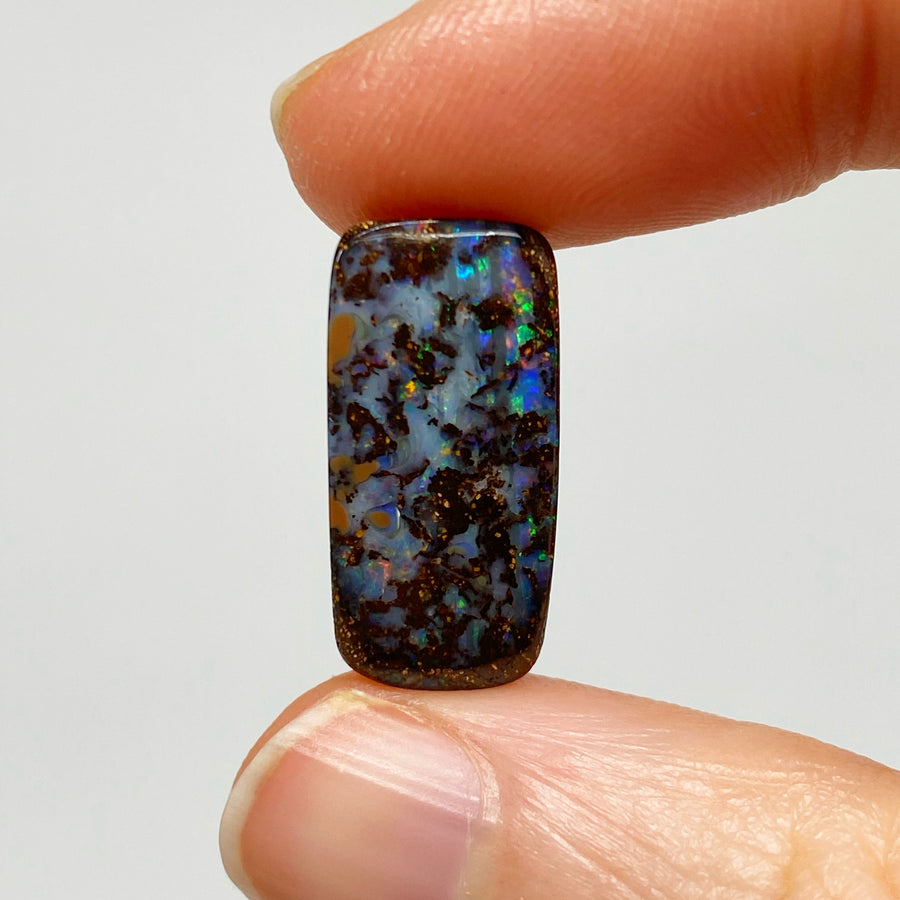 15.40 Ct matrix boulder opal pair