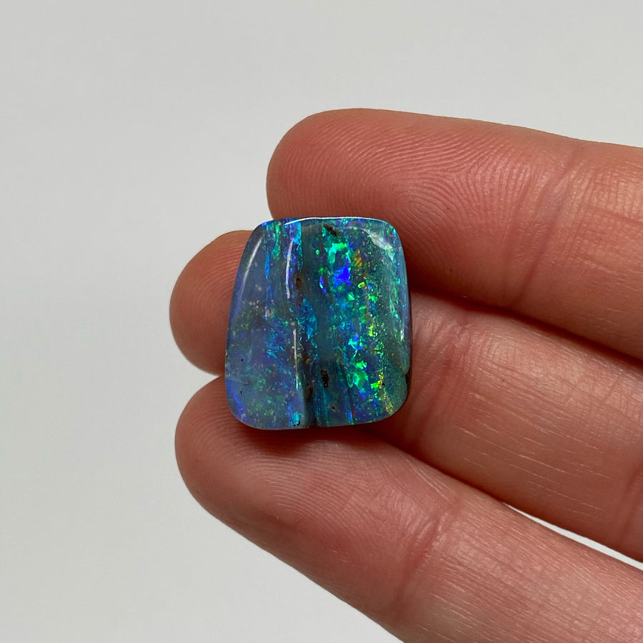 10.93 Ct green-blue boulder opal