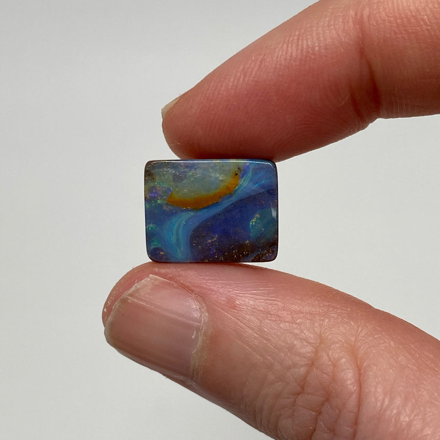 6.15 Ct rectangle boulder opal