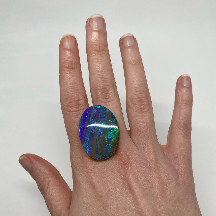 49.66 Ct green-blue boulder opal