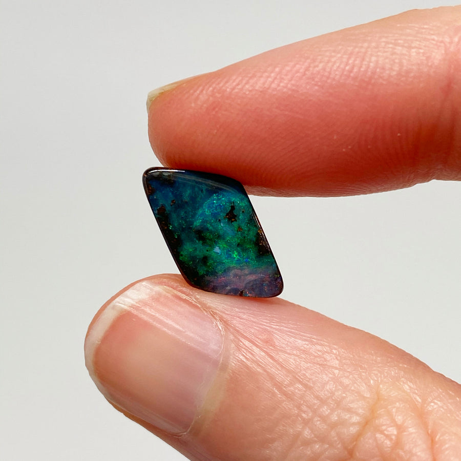 3.19 Ct small pink and green boulder opal