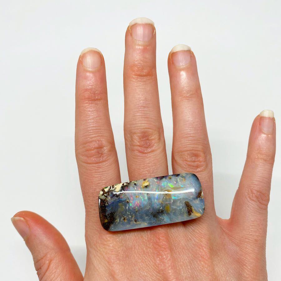 50.55 Ct rectangle boulder opal